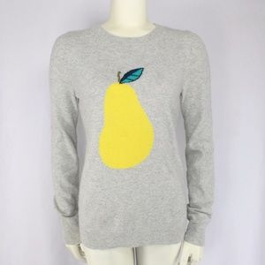 J.Crew Gray Yellow Pear Sweater Wool Blend
