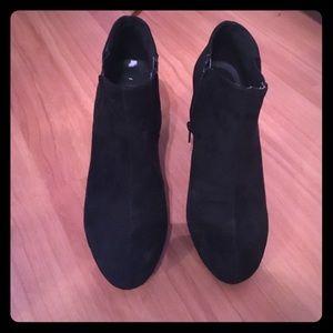 Madden Girl Velvet Black Booties