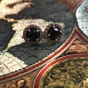 Pandora black earrings