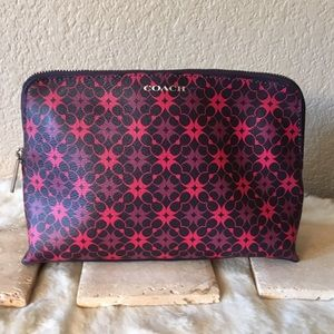 Coach Waverly Coated Canvas Cosmetic Case