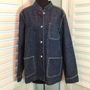 Gap Long Denim Jacket, Large, Like New