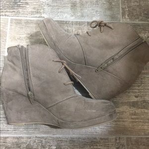 Merona Tan Suede Booties