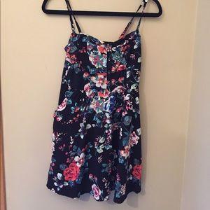 Express Floral Print Sun Dress
