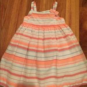 Crazy8 strapless stripped dress. Size 2T.
