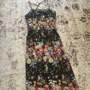 olive and oak floral maxi dress