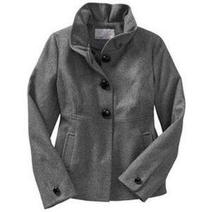 Old Navy Ruffle-Collar Wool-Blend Pea Coat Small