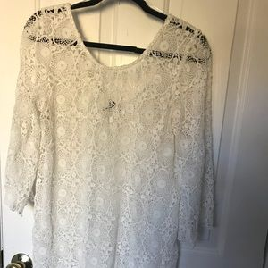 Lace white swimsuit cover