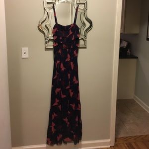 Butterfly Patterned Maxi Dress