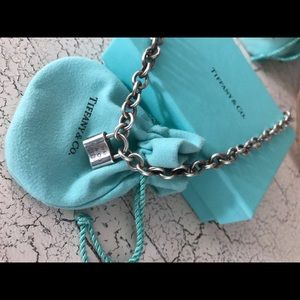Tiffany & Co Padlock Chain Necklace