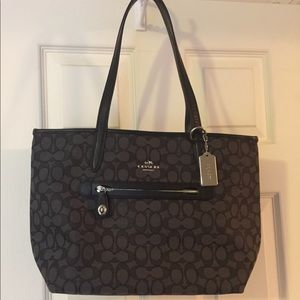 NWT Coach NEW Black Taylor small tote