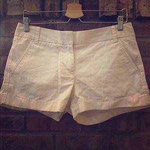 J Crew White Chino Shorts