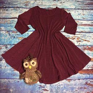 🍁 Torrid burgundy sweater dress size 2 or 18/20🍁