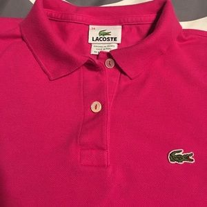 Lacoste women's polo pink. Size 34 (xxs)