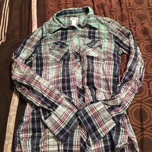 Other - Girls justice button down shirt size 10