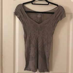 Free people intimately tshirt with mesh detail