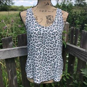 Joie Leopard Print Silk Tank