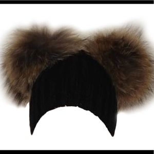 Women's Fur Beanies - Black Only