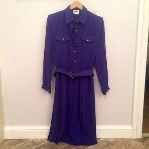 Vintage Dark Purple Leslie Fay Dress