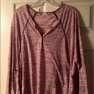 Purple/maroon lounge top