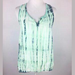 Splendid mint green tie dye boho tank top