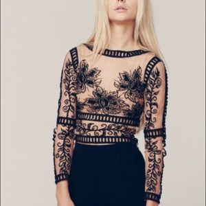 XS For Love and Lemons Desert Nights Crop Top