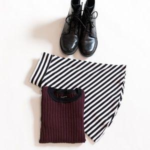 H&M Striped Skater Skirt