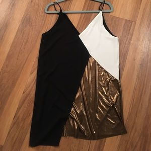 Asymmetrical Color Block Zara Dress