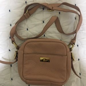 J. Crew 100% leather crossbody purse