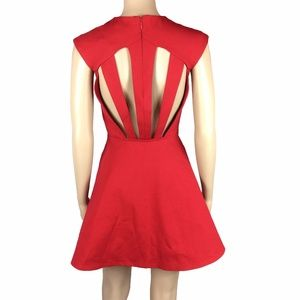 NWOT Silence & noise red cutout fit &flare dress