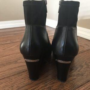MICHAEL Michael Kors Bromley Wedge Black Booties