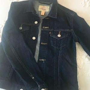 Levi dark wash jean jacket