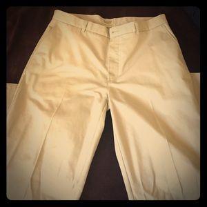 Men's Chino khaki pants  40 x 32 St. John's Bay