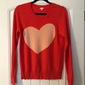 Coral & Peach JCREW Heart Sweater