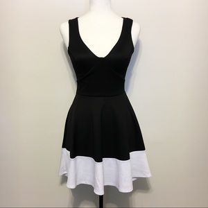 Charlotte Russe High-Low Fit & Flare Dress