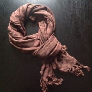 Accessories - Animal print plum scarf