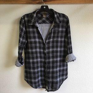 Anthropologie Fei plaid flannel buttondown shirt
