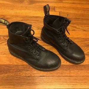 Dr. Marten Black Leather Combat Boots