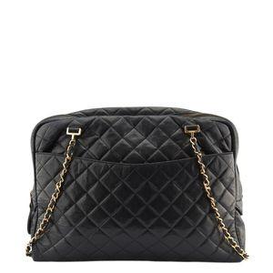 Chanel Black Quilted Leather Shoulder Bag (136524)