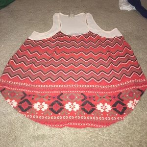 Tops - Sheer tribal print tank top