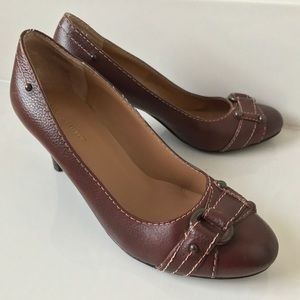 Banana Republic Brown Leather Shoes Heels 6