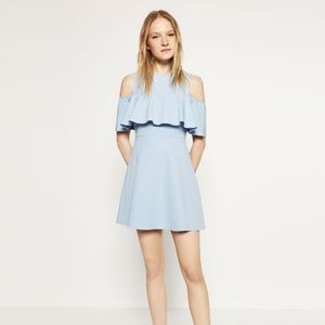 Zara Skater dress with cut out shoulders