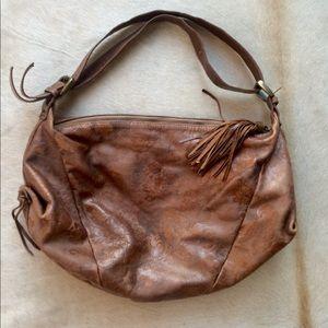 Leather Montini Hobo Purse