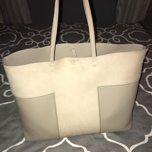 Tory Burch T-Block Tote, French Gray