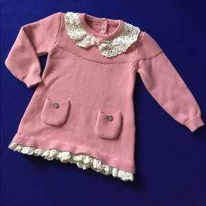 Other - Sweater Lace Knit Dress Girl 1-2T