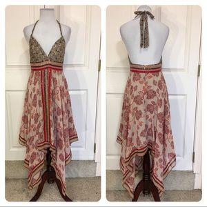 BCBGMAXAZRIA handkerchief halter dress