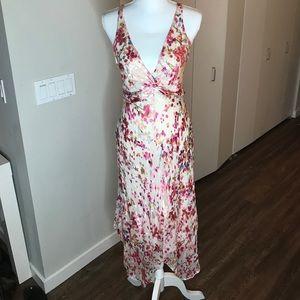 BCBGMAXAZRIA floral cross back dress