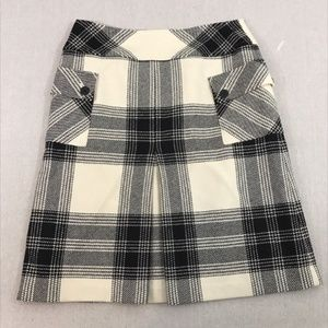 Talbots  Plaid Lined Wool Skirt size 8