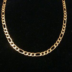 Stainless Steel men's Figaro chain
