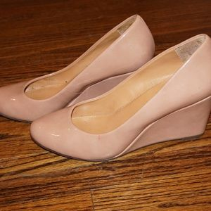 J. Crew Nude Wedges- size 8