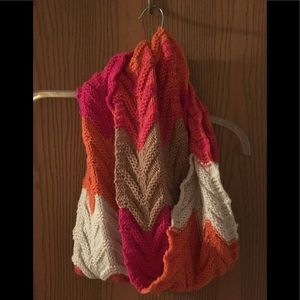 Knit multi color scarf!